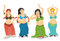 Stock Image : Belly dancers vector