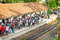 Stock Image : BENTOTA, SRI LANKA - 28 APR 2013: People wait for a train on rai