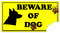 Stock Image : Beware of Dog Sign