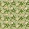Stock Image :  Bezszwowy wzór z białymi tulipanów kwiatami