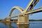 Stock Image : A big bridge through the river