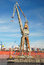 Stock Image : Big harbour crane