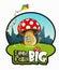 Stock Image : Big mushroom like a house on green grass