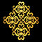 Stock Image : Big ornament element grunge wood texture