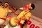 Stock Image : Bihu dancer