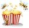 Stock Image :  Bijen en popcorn