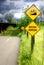 Stock Image : Bikeway Narrows Sign