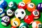 Stock Image : Billiard balls