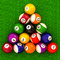 Stock Image : Billiard  balls with numbers