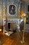 Stock Image :  Binnenlandse Zaal van het Cheverny-Kasteel Chateau