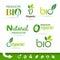 Stock Image : Bio - Ecology - Green - Natural icon set