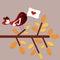 Stock Image : Bird love card