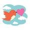 Stock Image : Bird with love heart