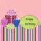 Stock Image : Birthday Template greeting card