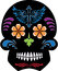 Stock Image : Black Day of the Dead Sugar Skull