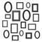 Stock Image : Black frames