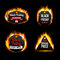 Black Friday Sale fire badges and labels