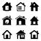 Stock Image : Black Home Icons