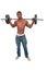Stock Image : Black Man Lifting Weight