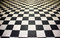 Stock Image : Black and white floor tiles
