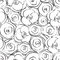 Stock Image : Black and white floral seamless pattern