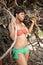 Stock Image : Black woman in bikini