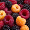 Stock Image : Blackberry and raspberry fruit