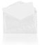 Stock Image : Blank envelope with reflection