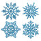 Stock Image : Blaue Schneeflocken