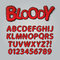 Stock Image : Bloody Comic Pop Art Alphabet and Numbers