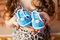 Stock Image : Blue baby booties