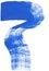 Stock Image : Blue brushstroke