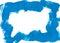 Stock Image : Blue brushstroke border