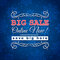 Stock Image : Blue christmas background and sale offer