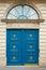 Stock Image : Blue door