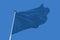 Stock Image : Blue Flag