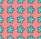 Stock Image : Blue flowers on a pink background, Illustration a