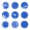 Stock Image : Blue Grunge Stamp Set