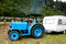 Stock Image : Blue Hanomag tractor
