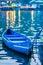 Stock Image : Blue Kayak on the lake