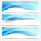 Stock Image : Blue light line headers footers collection