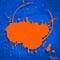 Stock Image : Blue and orange neon background