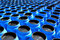 Stock Image : The blue plastic barrels for  chemicals