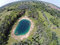 Stock Image : Blue pond aerial view
