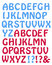 Stock Image : Blue and Red Hobo Style Letters