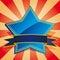 Stock Image : Blue star badge