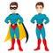 Stock Image : Blue Superhero Man