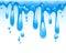 Stock Image : Blue water splash isolated on white