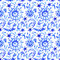 Stock Image : Blue watercolor pattern
