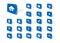 Stock Image : Blue web icons
